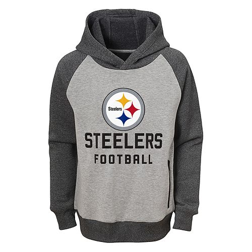 timeless design 98256 3b5ed Boys 8-20 Pittsburgh Steelers Foundation Raglan Pullover Hoodie