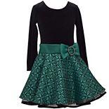 Girls 4-6x Bonnie Jean Long Sleeve Drop Waist Dress