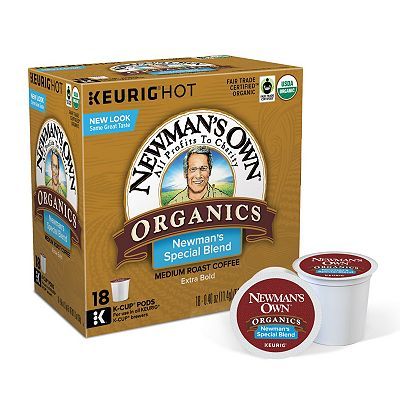 Keurig K-Cup Portion Pack Newman's Own Extra Bold Medium Roast Coffee - 18-pk.