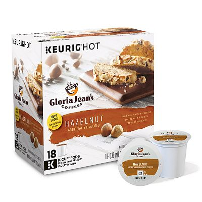Keurig K-Cup Portion Pack Gloria Jean's Hazelnut Coffee - 18-pk.