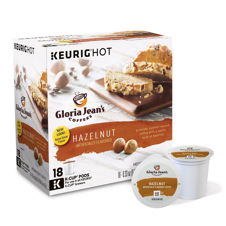 keurig kcup pod gloria jeanu0027s hazelnut coffee 18pk - Keurig K Cups