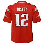 Boys 8-20 New England Tom Brady Inverted Color Jersey
