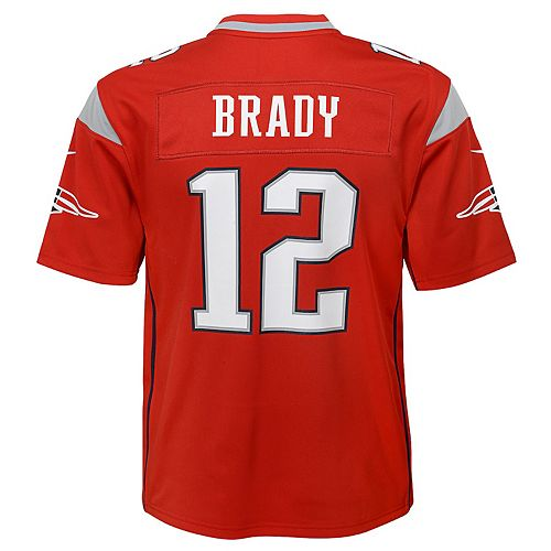 huge discount 42515 4926f Boys 8-20 New England Tom Brady Inverted Color Jersey