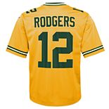 Boys 8-20 Green Bay Packers Aaron Rodgers Inverted Color Jersey