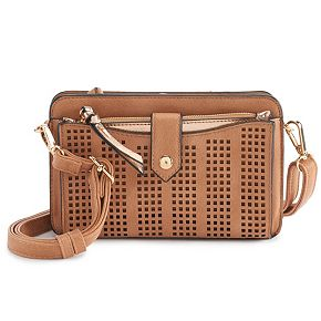 Women's Violet Ray Whipstitch Crossbody With Removable Pouch