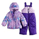 Baby Girl Snow Bib and Outer Puffer Jacket Set
