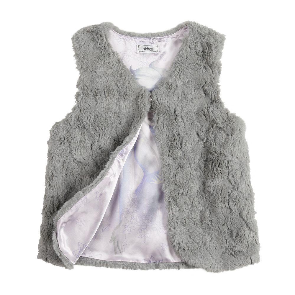 Disney's D-Signed Frozen 2 Girls 7-16 Faux Fur Vest