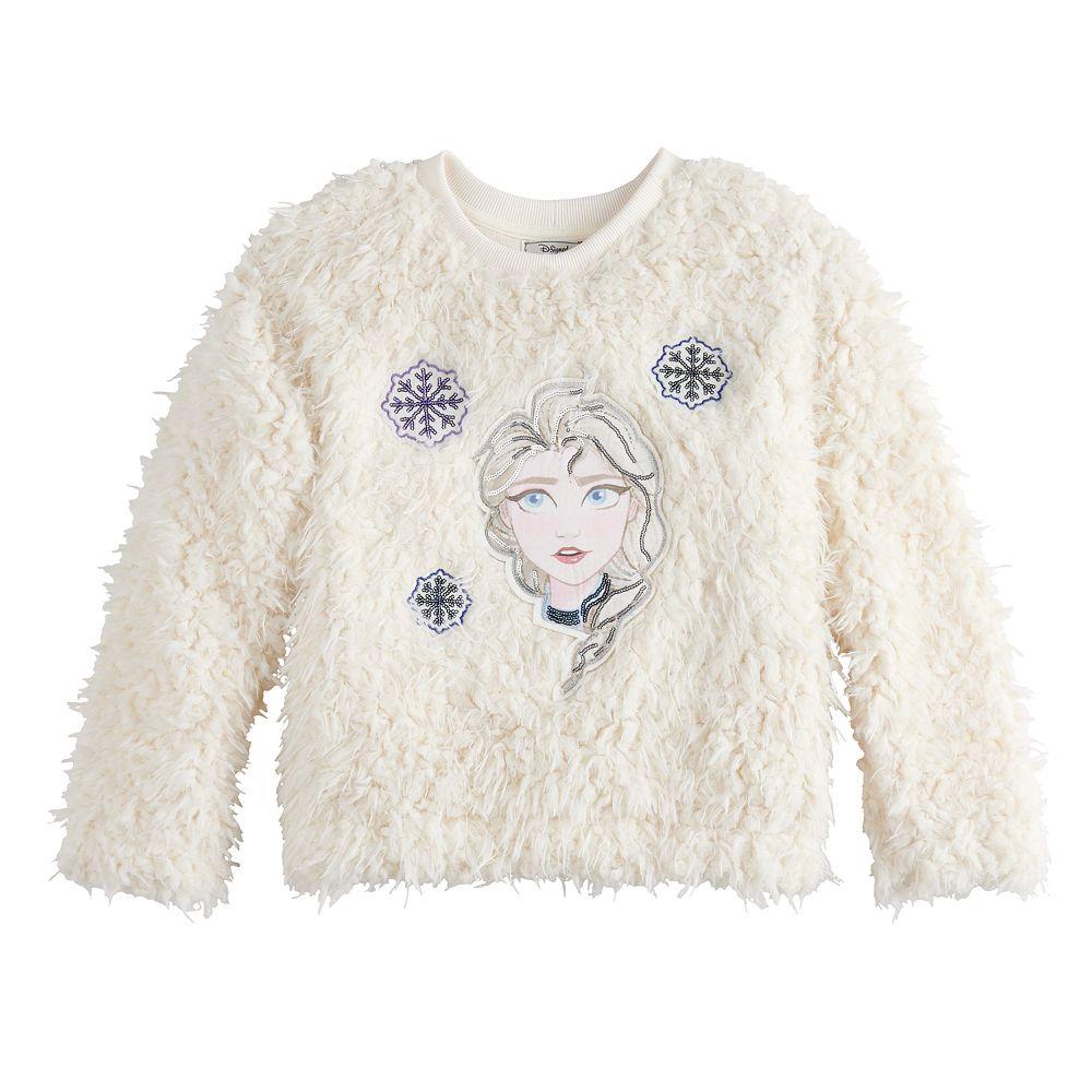 Disney's D-Signed Frozen 2 Girls 7-16 Fuzzy Pullover Sweater