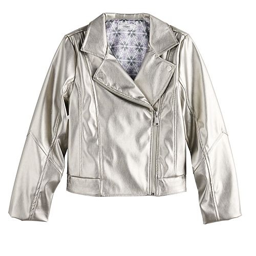 Disney's D-Signed Frozen 2 Girls 7-16 Metallic Moto Jacket