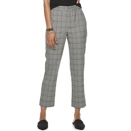 Juniors' Rewind Menswear Button Front Pants