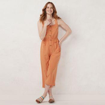 Petite LC Lauren Conrad Squareneck Wide-Leg Jumpsuit