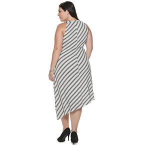 Plus Size Jennifer Lopez Asymmetrical Dress