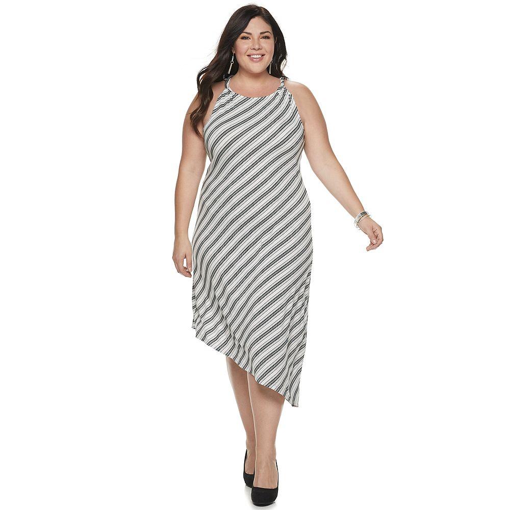 Plus Size Jennifer Lopez Asymmetrical Dress