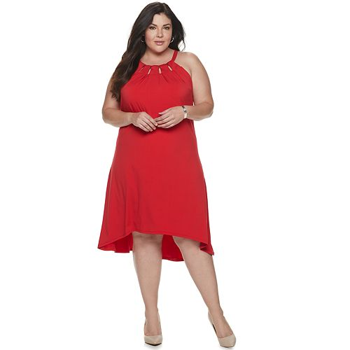 Plus Size Jennifer Lopez Cleo Neck Dress