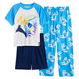 Boys 8-16 Fortnite Remix Top, Shorts & Pants Pajama Set