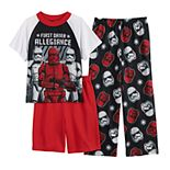 Boys 6-12 Star War Episode 9 Storm Top, Shorts & Pants Pajama Set