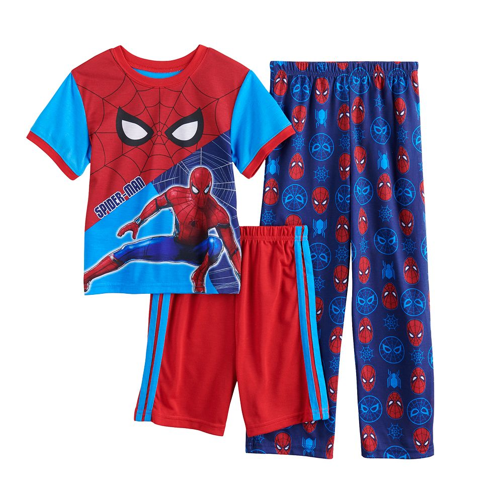 Boys 6-12 Marvel Spider-Man Homecoming 2 New Mission Top, Shorts & Pants Pajama Set