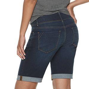 Women's Apt. 9® Tummy Control Denim Bermuda Shorts