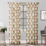 Scott Living 1-panel Angelou Leaf Textured Sheer Window Curtain