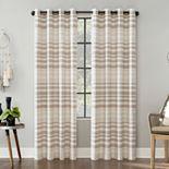 Scott Living 1-panel Delta Stripe Grommet Window Curtain