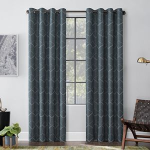 Scott Living 1 Panel Sinatra Total Blackout Dimensional Grommet Window Curtain