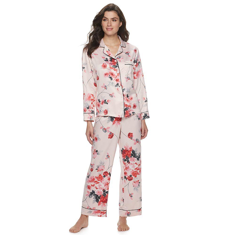 Women's Apt. 9® Floral Print Long Pajama Set