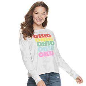 Juniors' Fifth Sun Ohio Stack Long Sleeve Graphic Tee
