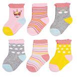 Baby Carter's 6-Pack Rainbow Unicorn Crew Socks