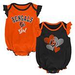 Baby Girl Cincinnati Bengals Celebration Bodysuit Set