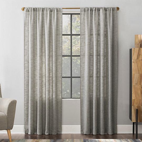 Scott Living 1 Panel Wallis Crosshatch Slub Textured Sheer Window Curtain