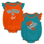 Baby Girl Miami Dolphins Celebration Bodysuit Set