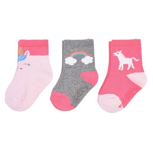 Baby Girl Carter's 3-Pack Unicorn Crew Socks