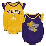 Baby Girl Minnesota Vikings Celebration Bodysuit Set