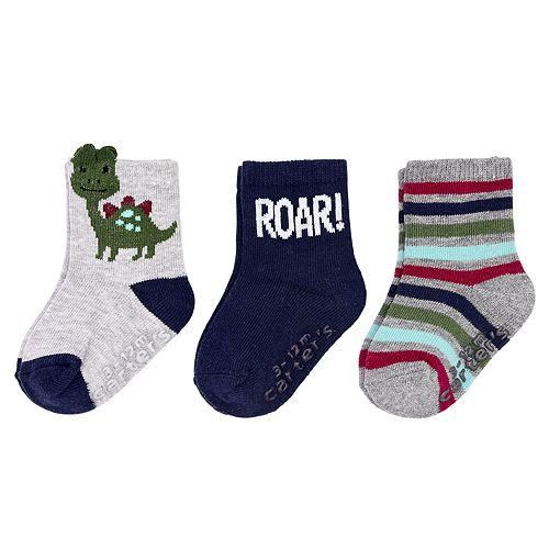 Boys 3M-4T Carter's 3pk Roar Crew Socks