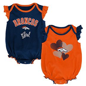Baby Girl Denver Broncos Celebration Bodysuit Set