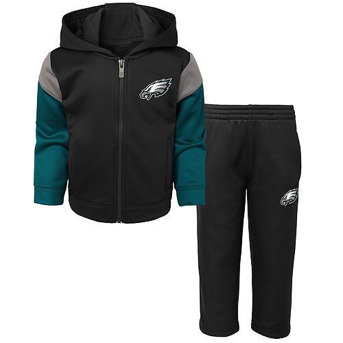 Toddler Boy Philadelphia Eagles Blocker Performance Fleece Hoodie & Pants Set