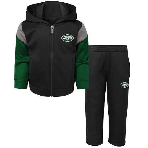 Toddler Boy New York Jets Blocker Performance Fleece Hoodie & Pants Set