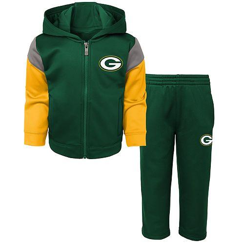 Toddler Boy Green Bay Packers Blocker Performance Fleece Hoodie & Pants Set