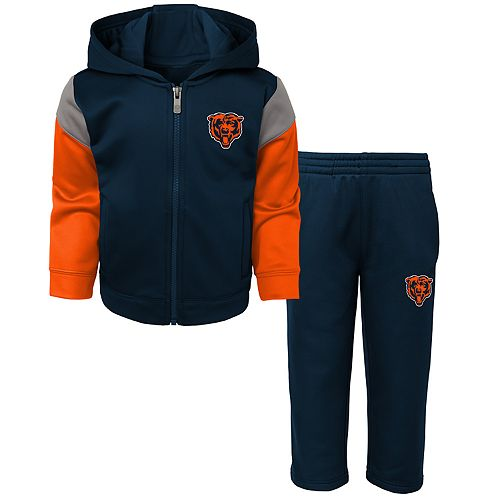 Toddler Boy Chicago Bears Blocker Performance Fleece Hoodie & Pants Set