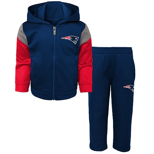 Toddler Boy New England Patriots Blocker Performance Fleece Hoodie & Pants Set