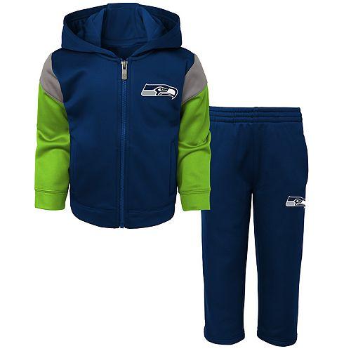 Toddler Boy Seattle Seahawks Blocker Performance Fleece Hoodie & Pants Set