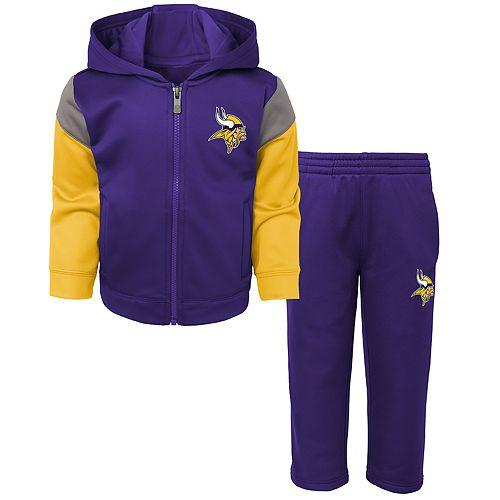 Toddler Boy Minnesota Vikings Blocker Performance Fleece Hoodie & Pants Set