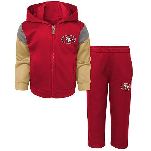 Toddler Boy San Francisco 49ers Blocker Performance Fleece Hoodie & Pants Set