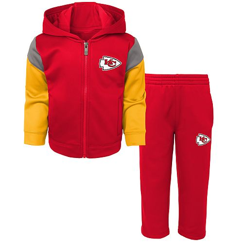 Toddler Boy Kansas City Chiefs Blocker Performance Fleece Hoodie & Pants Set