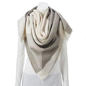 Women's LC Lauren Conrad Color Block Square Blanket Scarf