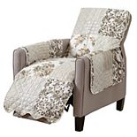 Great Bay Home Patchwork Scalloped Recliner Furniture Protector
