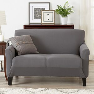 Great Bay Home Jersey Knit Loveseat Slipcover