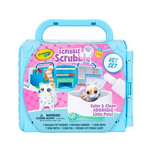 Crayola Scribble Scrubbie Pets, Vet Toy Playset, Gift for Kids