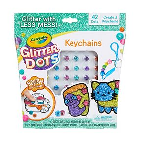 Crayola Glitter Dots Space DIY Keychains, Kids Craft, Gift for Kids, Ages 5, 6, 7, 8
