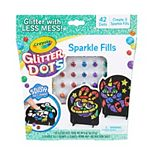 Crayola Glitter Dots Magical Mosaics for Kids, Less Mess Mosaic Kit, Gift